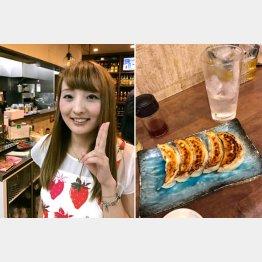 新橋「凜」のリンママ&自家製焼き餃子