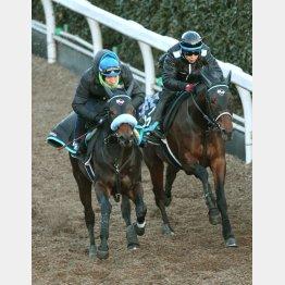 いい伸びで1馬身先着(左)