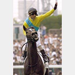 2007年ダービーを制した牝馬のウオッカ