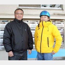 高木師(左)と勝浦騎手も期待大
