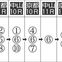 1点勝負は中山11R