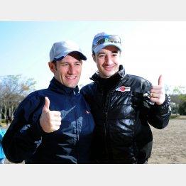 常によきライバルのM・デムーロ(左)とルメール
