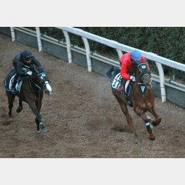 1馬身先着のラスト1F12秒3(右)