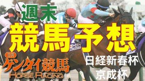 第68回 日経新春杯(中京・GⅡ)/第61回 京成杯(中山・GⅢ)